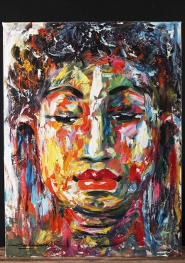 Cambodian Oil Painting of Buddha on Canvas 31