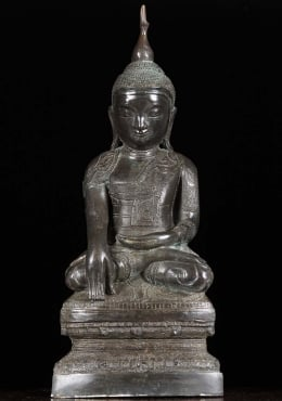 Thai Brass Lanna Buddha Sculpture 24