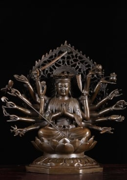 Bronze Avalokiteshva Statue with 18 Arms 10