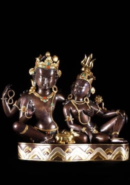 Masterpiece Copper Shiva, Parvati & Nandi 16