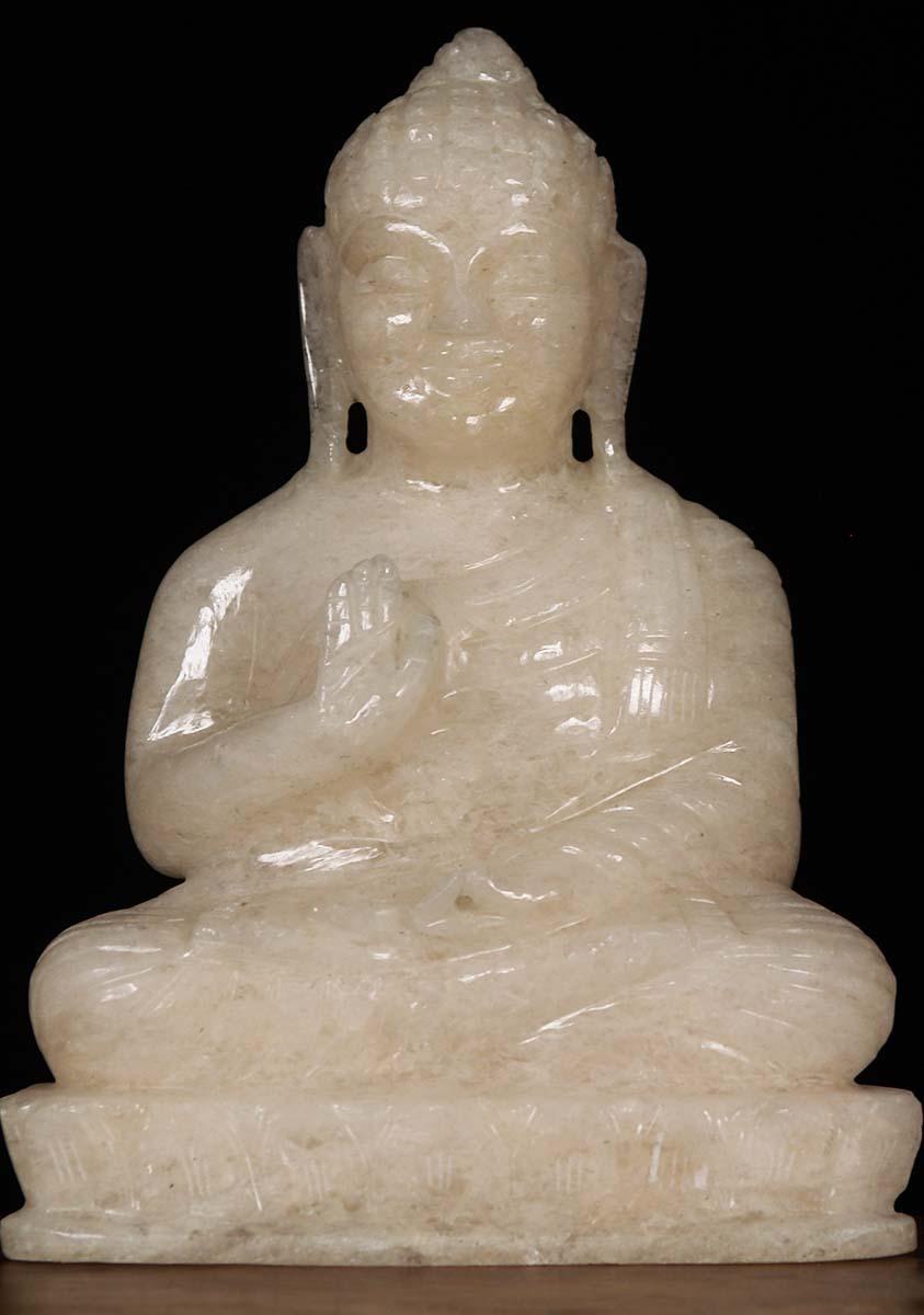 Sold Small Crystal Buddha Statue 8 Quot 80m91b Hindu Gods Amp Buddha Statues