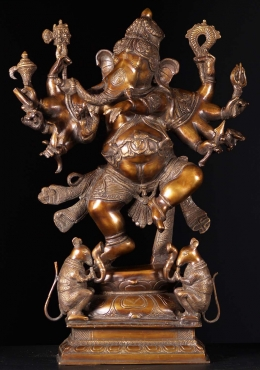 Balance for Dancing 10 Arm Ganesh with Musical Rats 25
