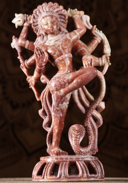 Marble Dancing Shiva Statue with 8 Arms 16