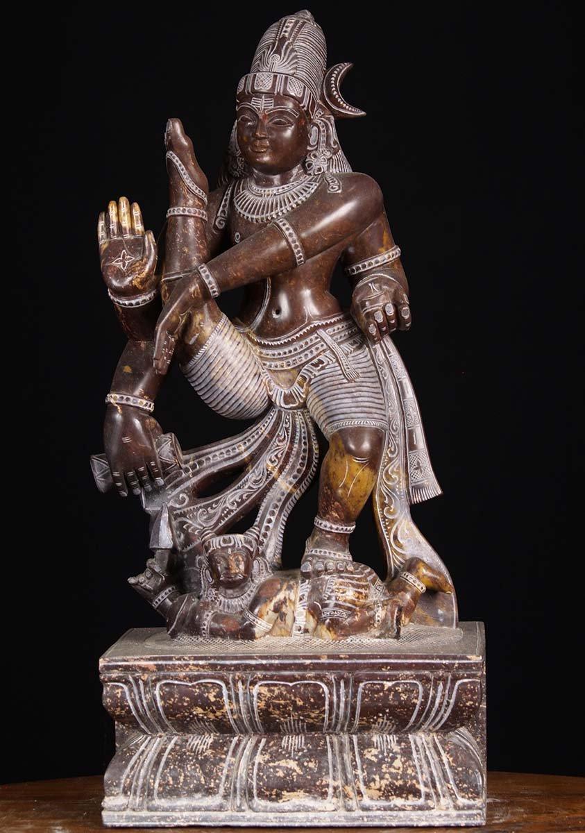 Dancing Marble Tandava Shiva Statue 17 Quot 80bm9 Hindu