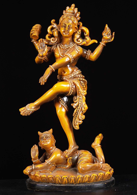"""Fiber Nataraja Dancing on Top of Dwarf 12"""" (#1f7z): Hindu ..."""