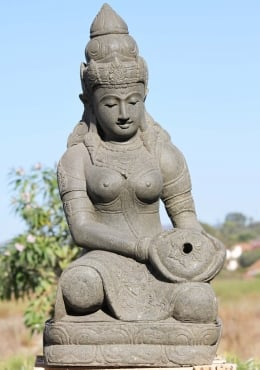 Stone Devi Tara Fountain Sculpture 40