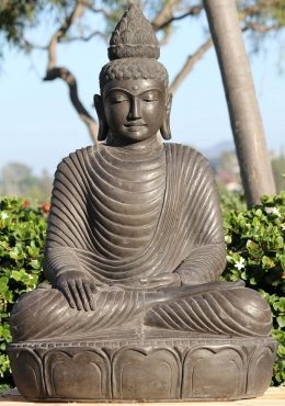 Stone Earth Touching Garden Buddha Statue 38