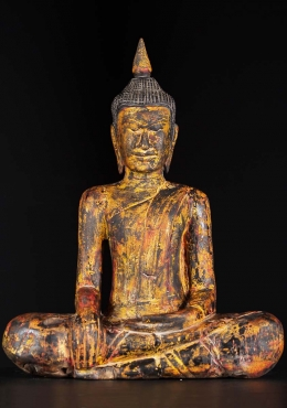 Wood Earth Touching Cambodian Buddha 29