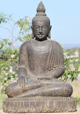 Stone Earth Touching Buddha Garden Sculpture 36