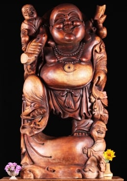 Fat & Happy Buddha Of Wealth With Children 36