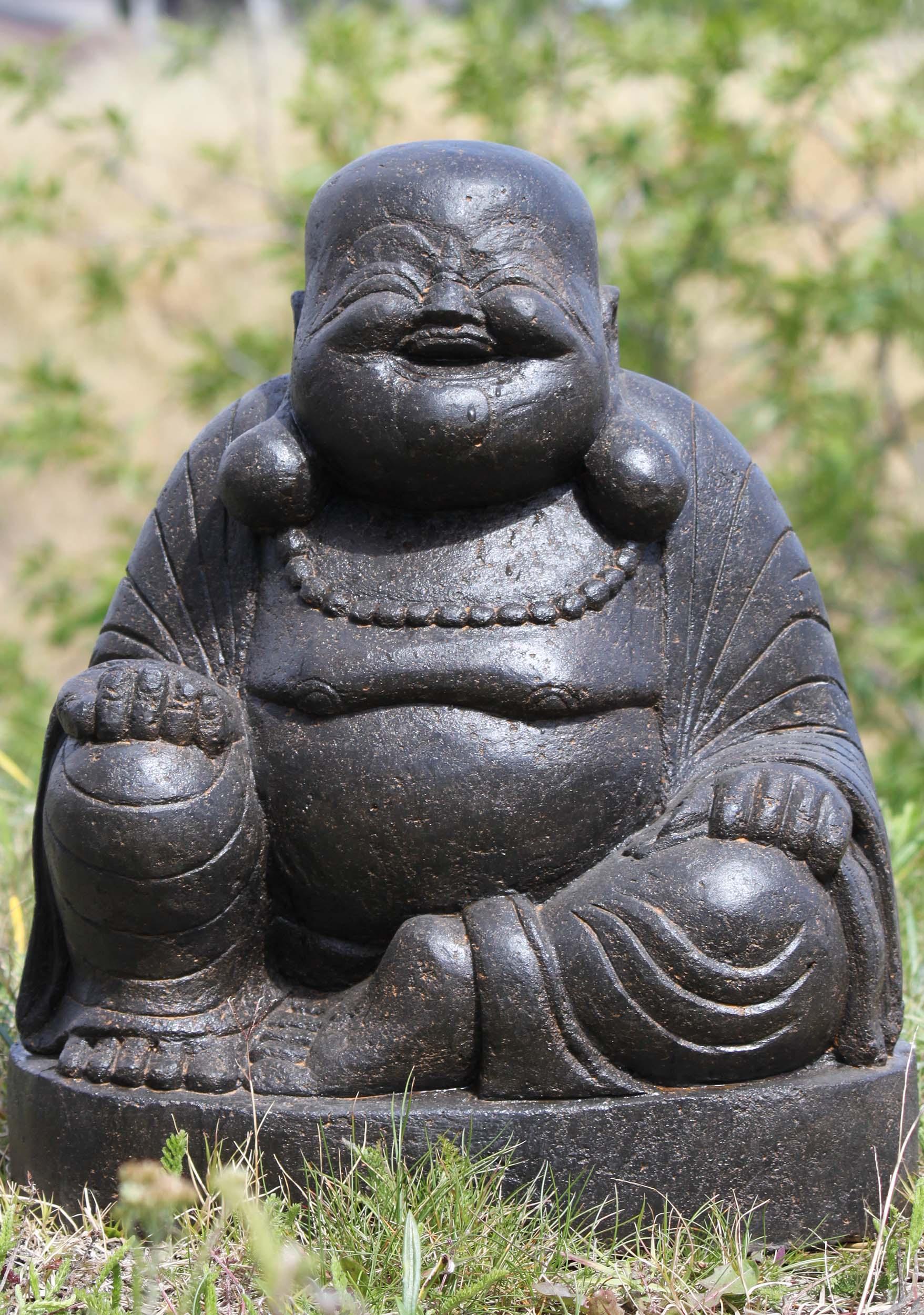 Sold Stone Fat And Happy Garden Buddha Statue 19 100ls348 Hindu Gods Buddha Statues