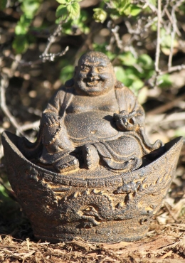 Fat Buddha Statue With Dragon 4