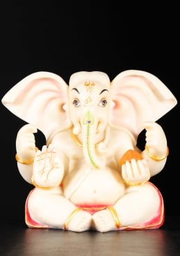 Fiber Abhaya Mudra Ganesh with Large Ears 11
