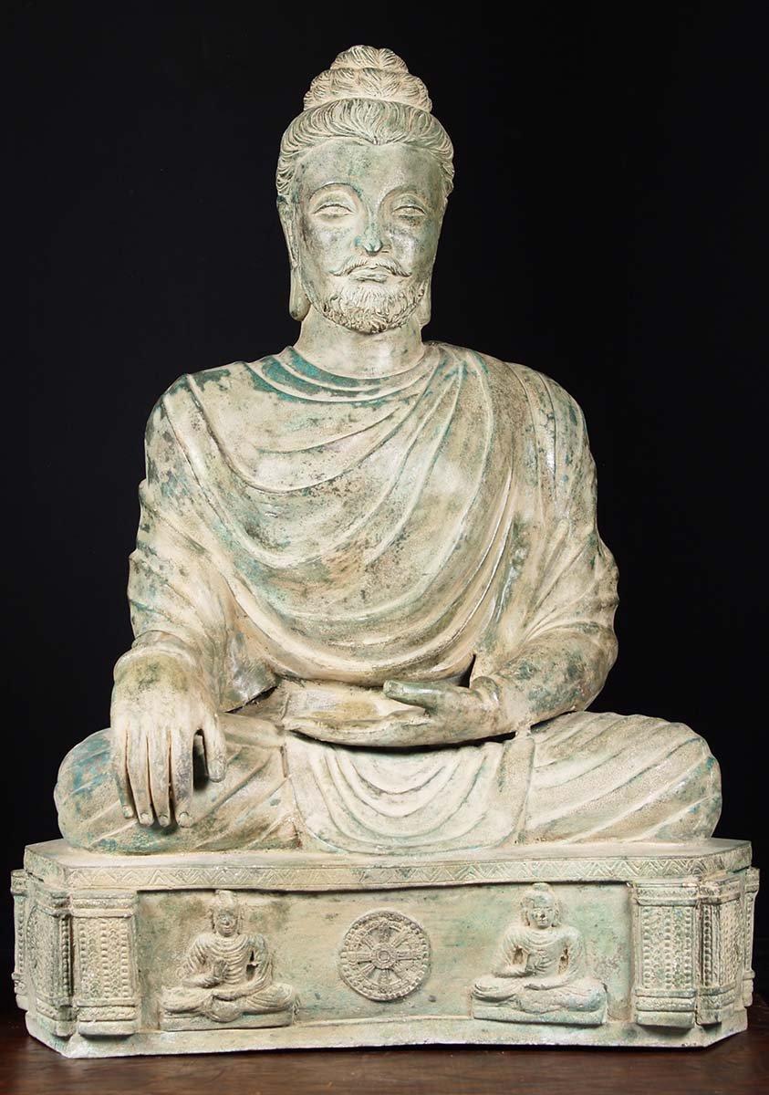 Brass Impressive Gandhara Buddha Statue 47 Quot 82t64
