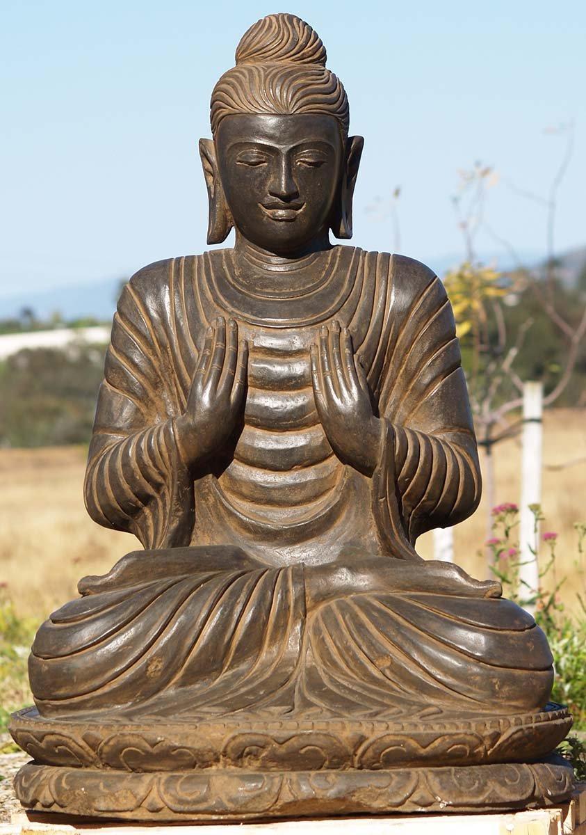 Sold Stone Gandhara Buddha Statue 36 5 Quot 83ls51 Hindu