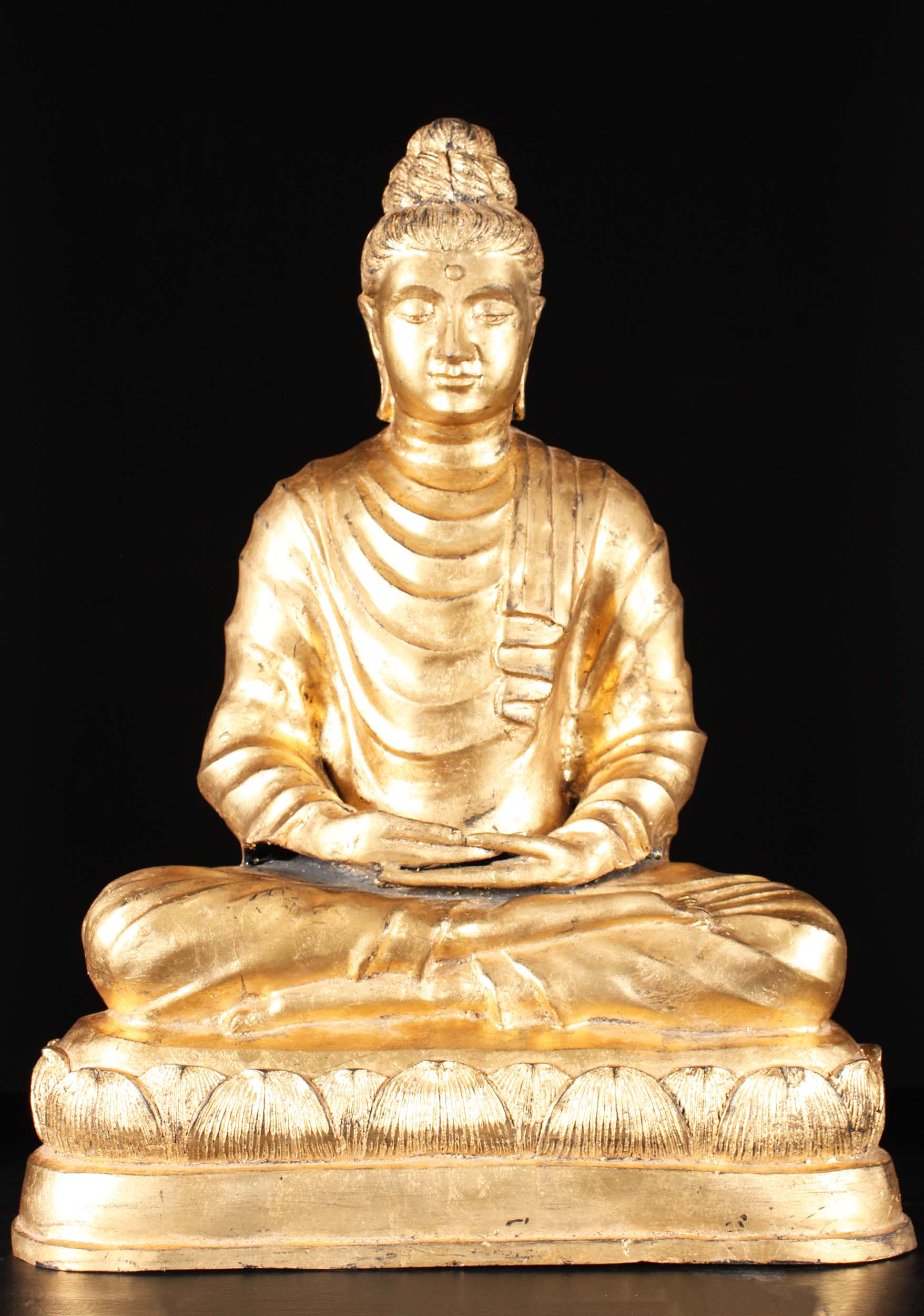 Brass Gandhara Gold Leaf Buddha Statue 26 58t1a Hindu Gods Buddha Statues