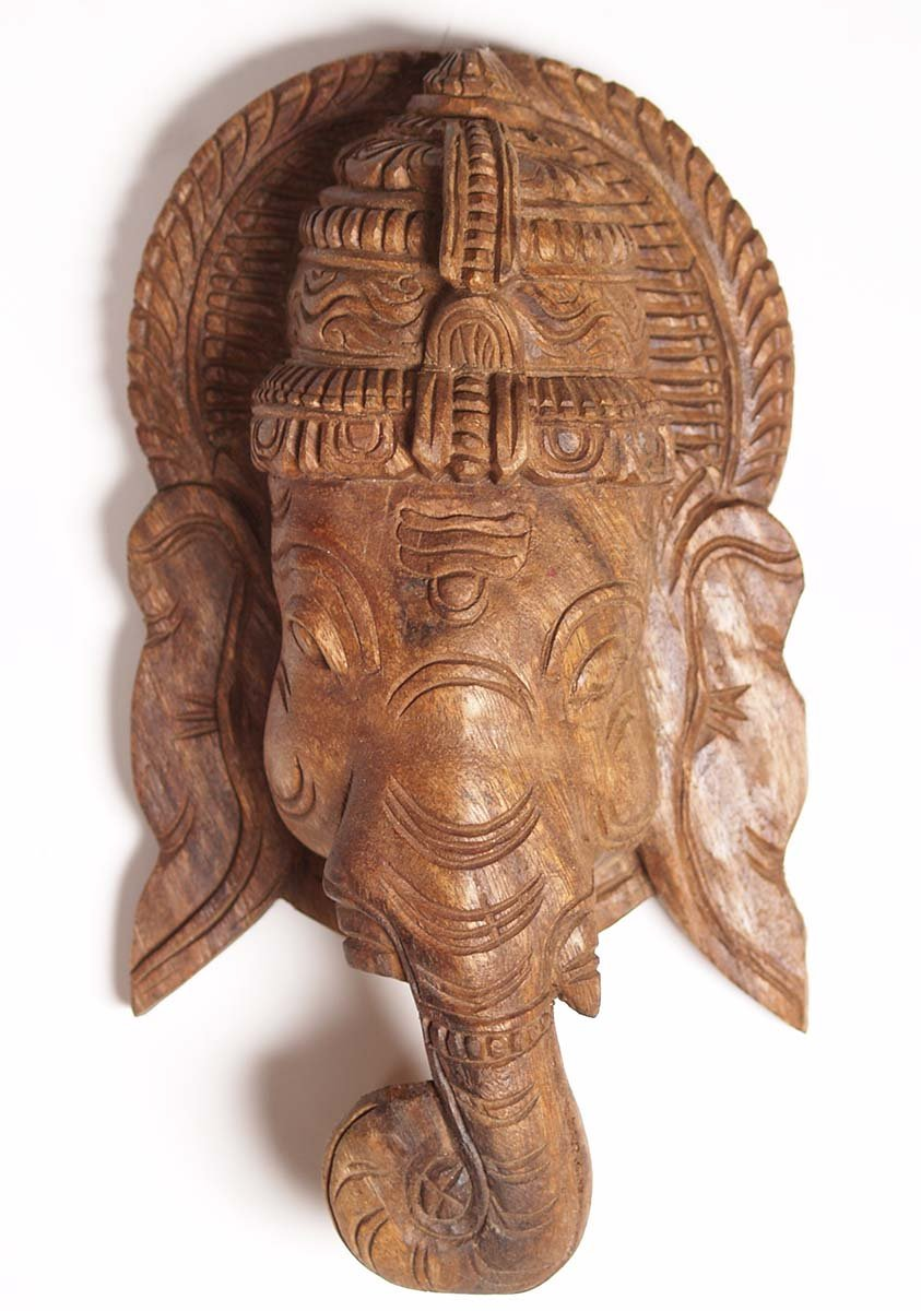 Sold Wooden Wall Hanging Of Lord Ganesha 12 Quot 76w55z