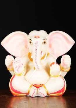 Fiber Ganapathi Statue with Large Ears 8