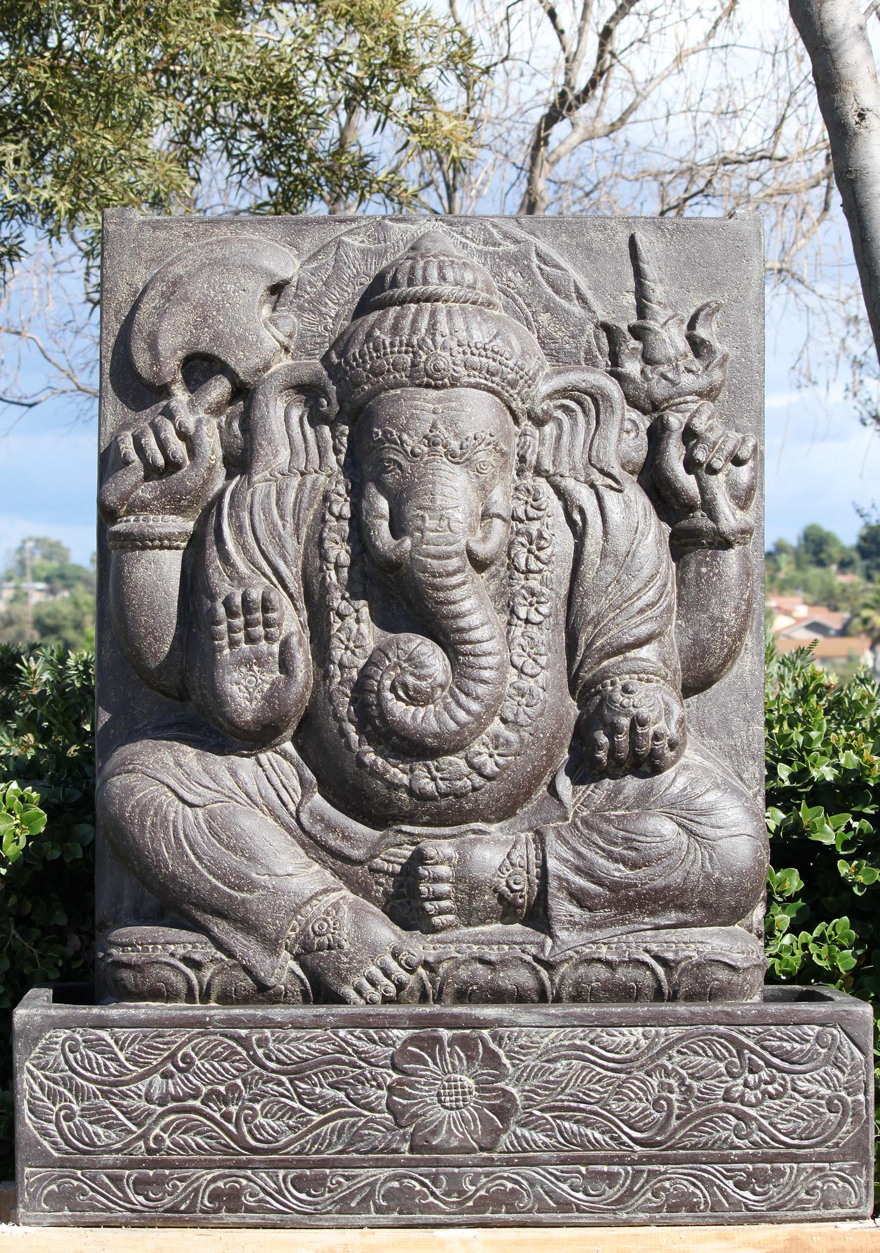 Preorder Stone Ganesha Fountain With Base 53 Quot 105ls449