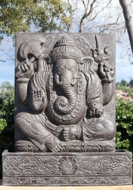 PREORDER Stone Ganesha Fountain with Base 53