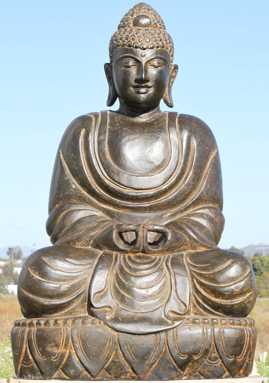 Stone garden buddha japanese statue 30 96ls246 hindu for Outdoor buddha