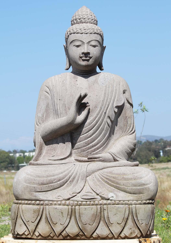 "SOLD Stone Garden Teaching Buddha Statue 49"" (#88ls218 ..."
