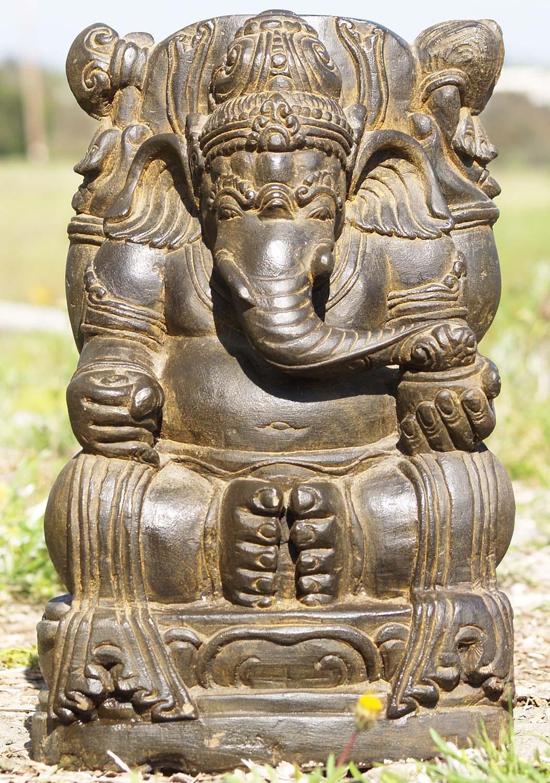 Sold stone garden ganesh sculpture quot ls hindu