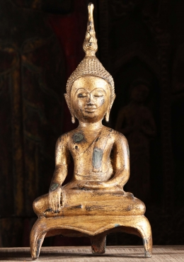 Gold Leaf Laotian Style Buddha Statue 20
