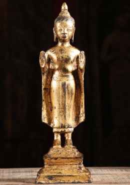 Gold Leaf Standing Buddha Statue 14