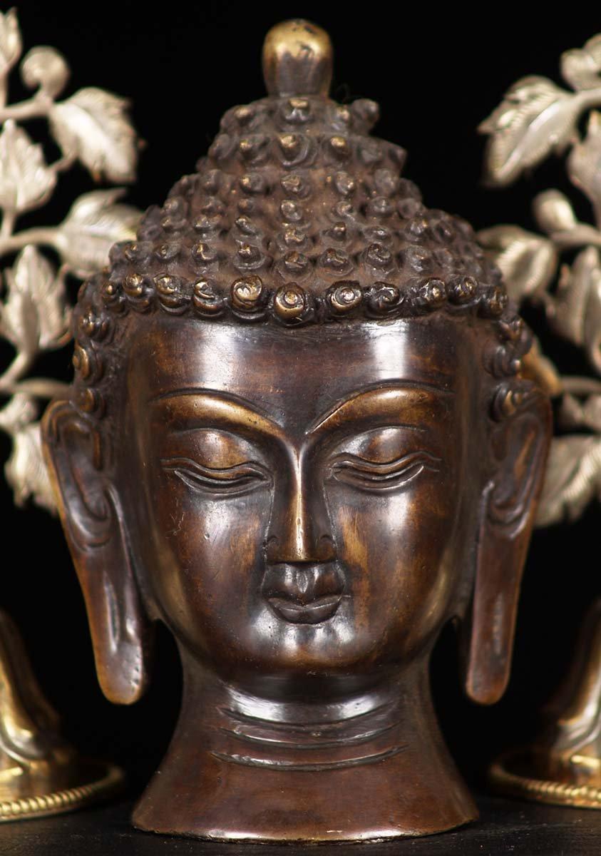 Indian Brass Buddha Head