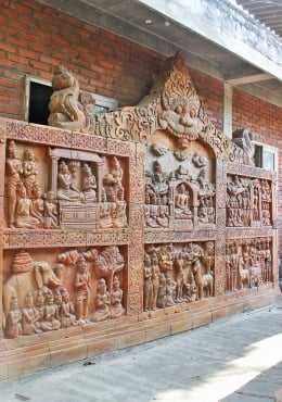 Stone Wall Panel of 6 Scenes of Buddha's Life 198