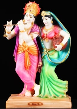 Fiber Radha with Krishna Playing the Flute 16
