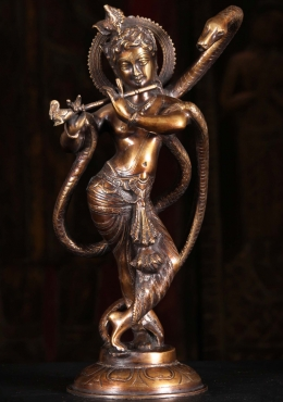 Brass Kailya Krishna Sculpture 15