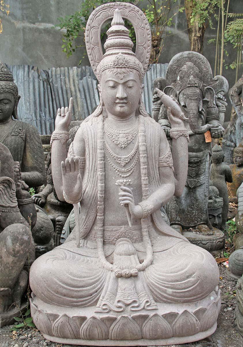 Stone Seated Lakshmi Garden Statue 75 Quot 84ls1 Hindu