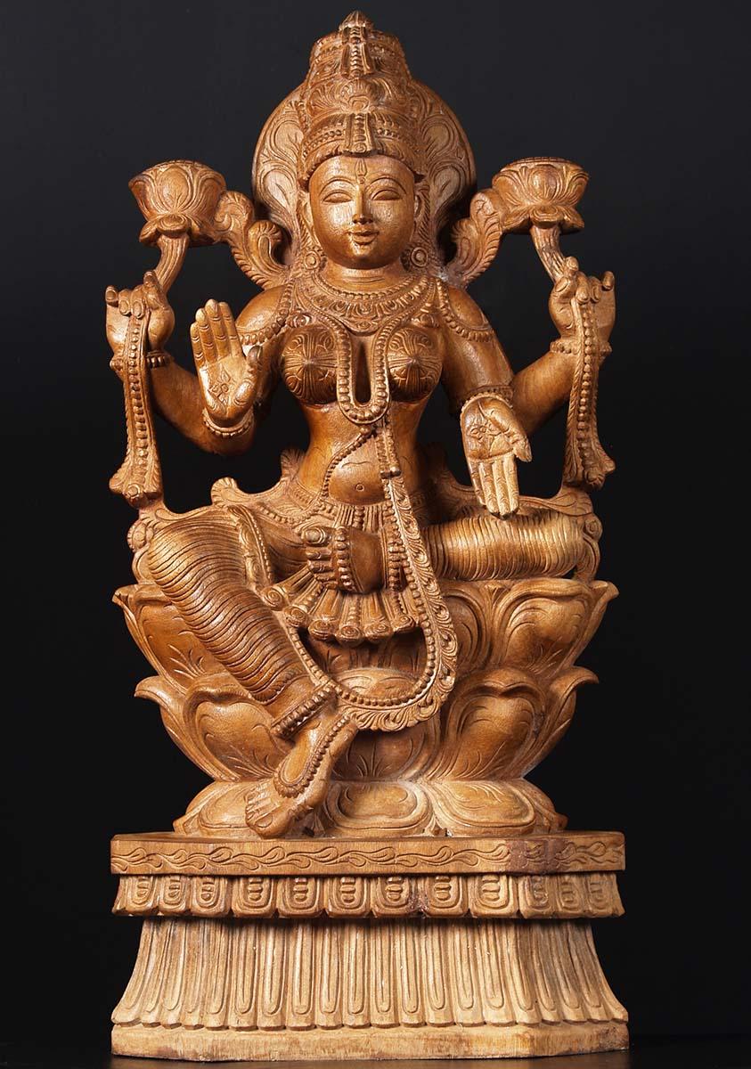 Sold Lakshmi Wood Hindu Goddess 36 76w2k Hindu Gods