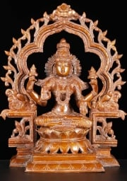 Brass Seated Lakshmi with Arch 16