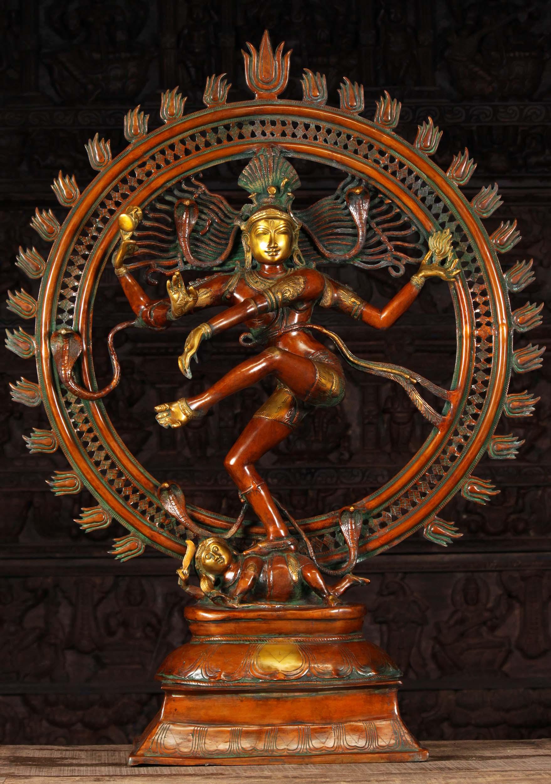 "Brass Graceful Dancing Nataraja Statue 41"" (#61bs50z ..."