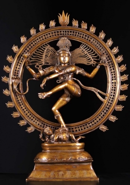 Brass Dancing Shiva as Lord Nataraja Statue 41