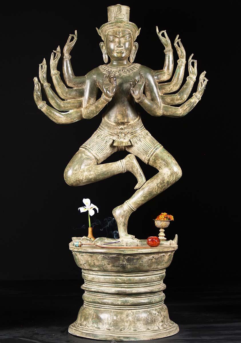 SOLD Wooden Hindu Lakshmi Statue 24 (#65w13w): Hindu Gods