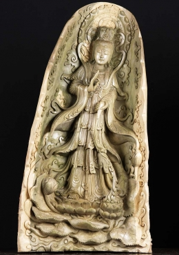 Large Kwan Yin Wood Carving 40