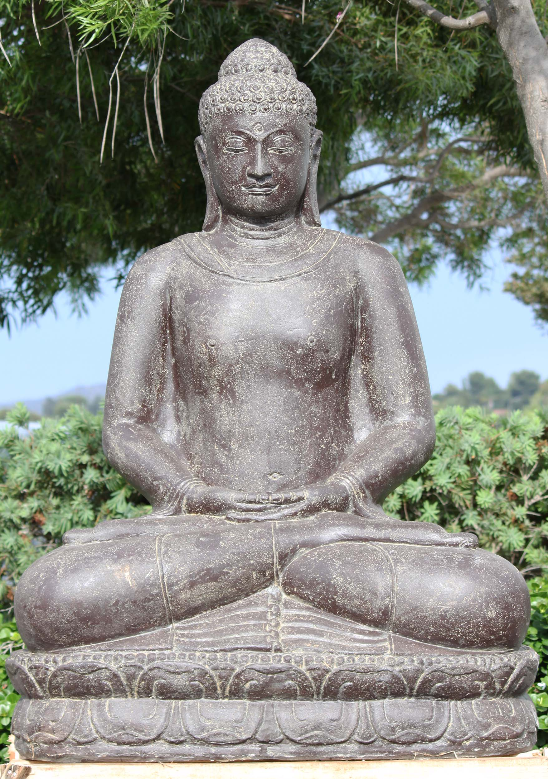 Large Meditating Buddha Garden Statue 59 116ls633 Hindu Gods Buddha Statues
