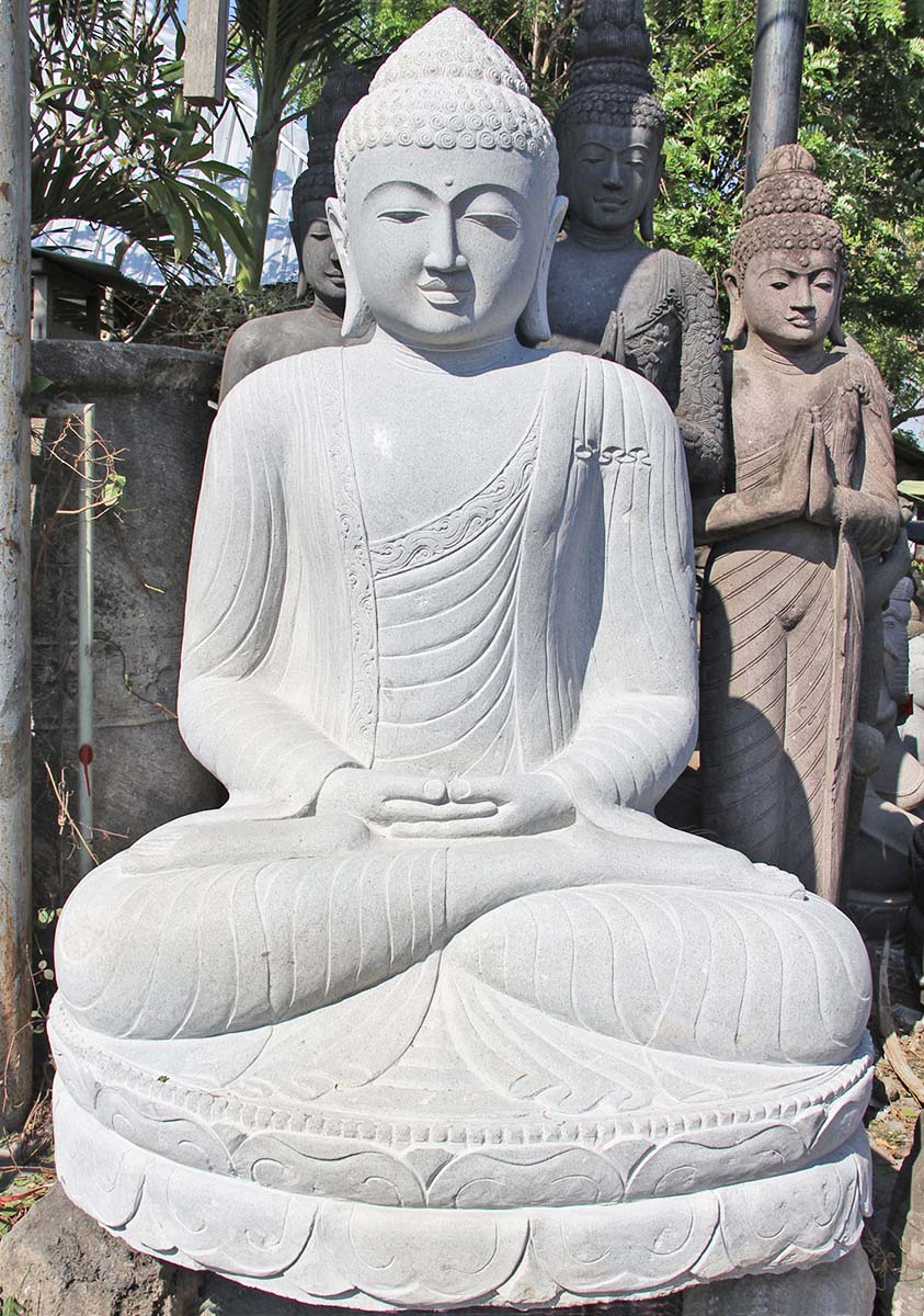 large meditating buddha statue garden 79 77ls126. Black Bedroom Furniture Sets. Home Design Ideas