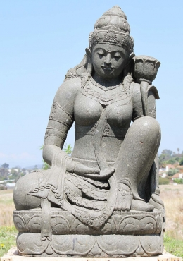 Stone Large Seated Devi Tara Statue 59