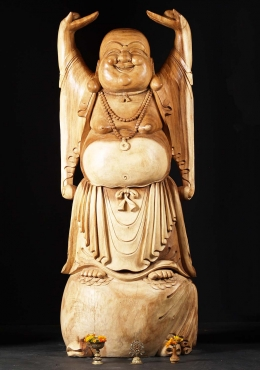 Large Standing Fat And Happy Buddha 72
