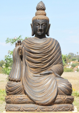 Large Stone Garden Teaching Buddha Sculpture 46