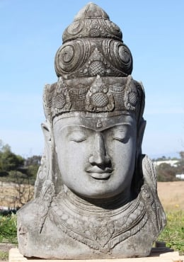 Stone Large Rustic Shiva Bust 51