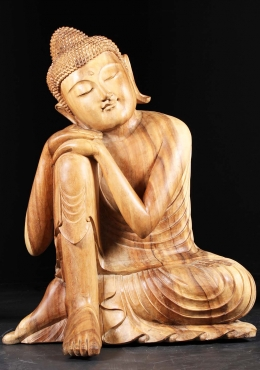 Large Wooden Resting Buddha Statue 41