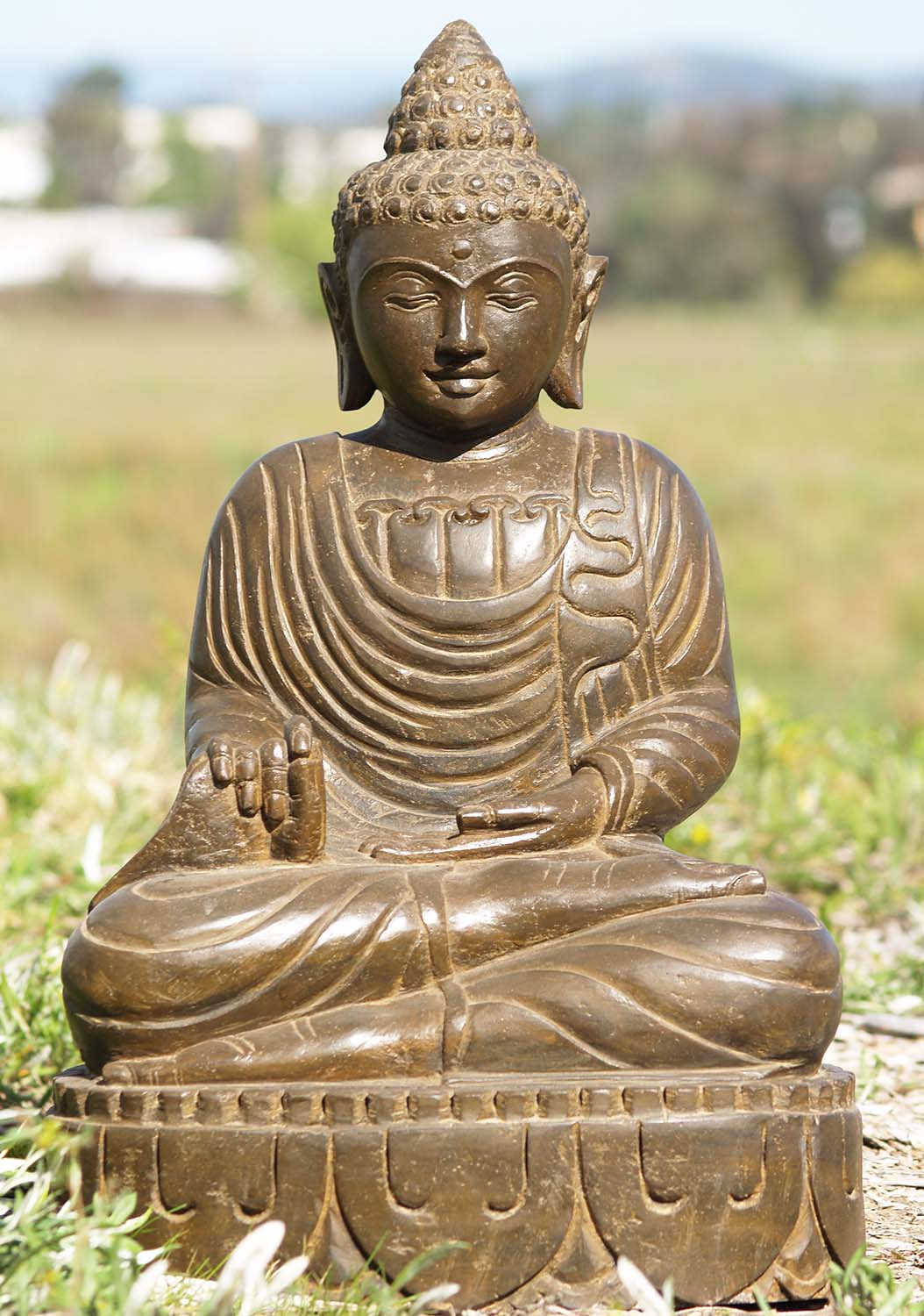 Sold lava stone teaching buddha sculpture quot ls a