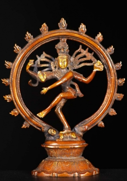 Brass Nataraja Statue with Oval Base 8