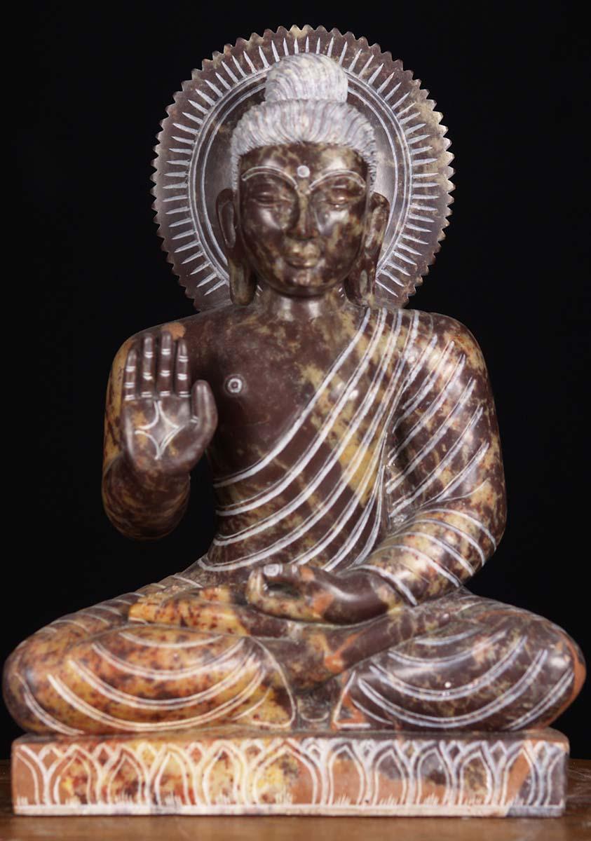 Sold Black Marble Abhaya Buddha Statue 10 Quot 80bm1 Hindu